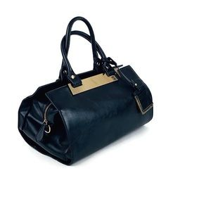 The Limited Black Satchel with Detachable Strap